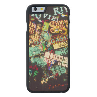 Double exposure, casino signs, Las Vegas, Carved Maple iPhone 6 Case