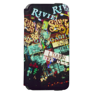 Double exposure, casino signs, Las Vegas, Incipio Watson™ iPhone 6 Wallet Case
