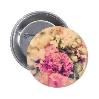 Double Exposure Flower (Cool Colors) 2 Inch Round Button