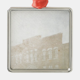 Double Exposure Fun in Washington, Iowa Silver-Colored Square Ornament