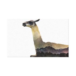 Double Exposure Llama Canvas Print