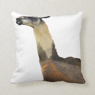 Double Exposure Llama Throw Pillow