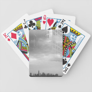 double exposure NYC skyline and buildings Bicycle Playing Cards