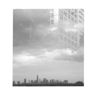 double exposure NYC skyline and buildings Notepads