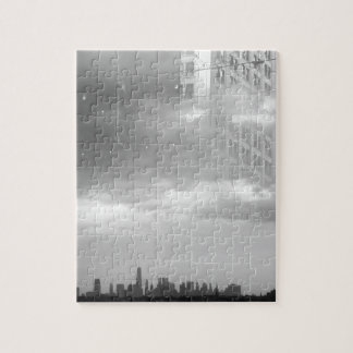 double exposure NYC skyline and buildings Puzzles