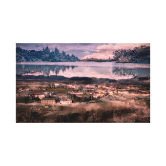 Double exposure wrapped canbas canvas print