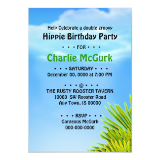 Double Groovy Birthday Party Invitation