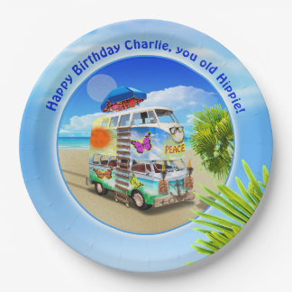 Double Groovy Birthday Party Plate