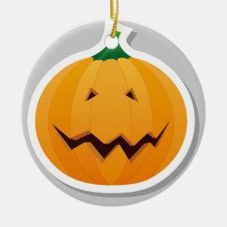 Double Halloween pumpkin Ornament