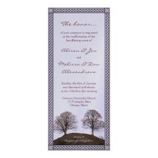 Double Handfasting Renewal Card