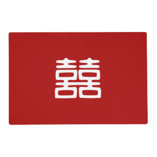 Double Happiness • Bold Laminated Place Mat