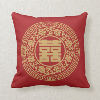 Double Happiness Chinese Pillow