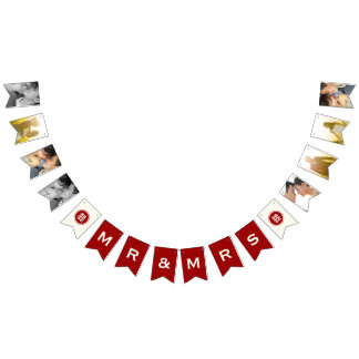 Double Happiness Chinese Wedding Bunting Banner