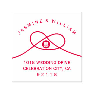 Double Happiness Chinese Wedding Self Inking Stamp