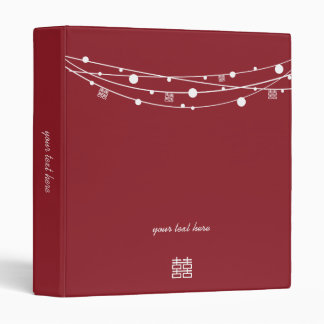 Double Happiness Lanterns Wedding Planner Binder