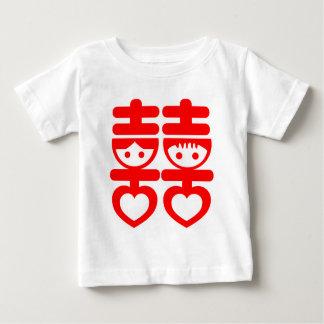 Double Happy Cute Couple Tee Shirt
