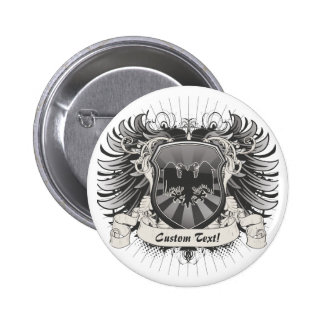 Double Headed Eagle Crest 2 Inch Round Button