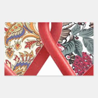double heart batik art stickers