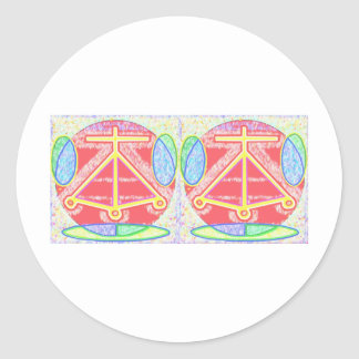 Double HEARTH: Karuna Reiki Classic Round Sticker