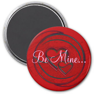 Double Hearts Be Mine Refrigerator Magnet