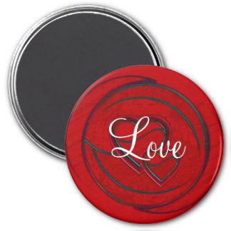 Double Hearts Love Fridge Magnet