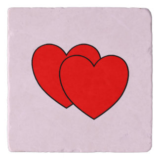 Double Hearts Pink Trivet