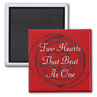 Double Hearts Two Hearts That Beat As One Refrigerator Magnets