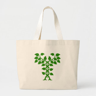 Double Helix DNA Plant Concept Large Tote Bag