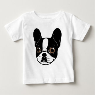 Double Hooded Pied French Bulldog Puppy Baby T-Shirt