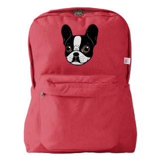 Double Hooded Pied French Bulldog Puppy Backpack