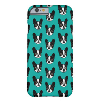 Double Hooded Pied French Bulldog Puppy Barely There iPhone 6 Case