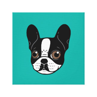 Double Hooded Pied French Bulldog Puppy Canvas Print