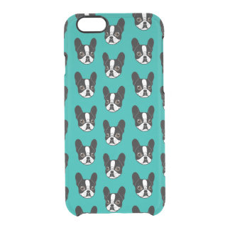 Double Hooded Pied French Bulldog Puppy Clear iPhone 6/6S Case