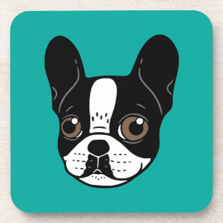 Double Hooded Pied French Bulldog Puppy Coaster