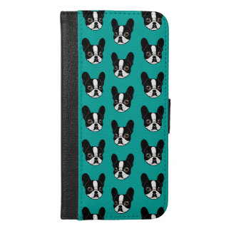 Double Hooded Pied French Bulldog Puppy iPhone 6/6s Plus Wallet Case