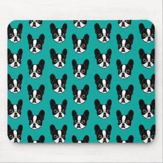 Double Hooded Pied French Bulldog Puppy Mouse Pad