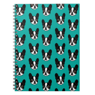 Double Hooded Pied French Bulldog Puppy Notebook