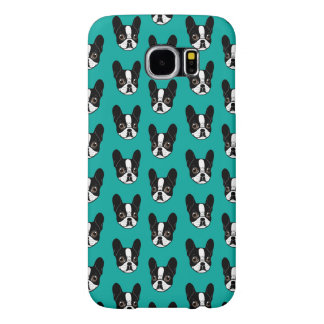 Double Hooded Pied French Bulldog Puppy Samsung Galaxy S6 Cases