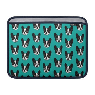 Double Hooded Pied French Bulldog Puppy Sleeve For MacBook Air