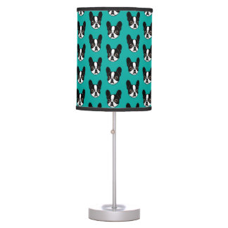 Double Hooded Pied French Bulldog Puppy Table Lamp