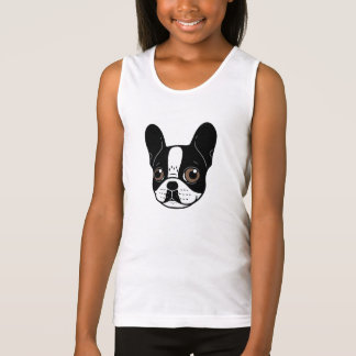 Double Hooded Pied French Bulldog Puppy Tank Top