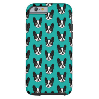 Double Hooded Pied French Bulldog Puppy Tough iPhone 6 Case