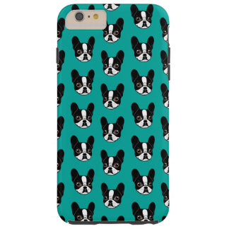 Double Hooded Pied French Bulldog Puppy Tough iPhone 6 Plus Case