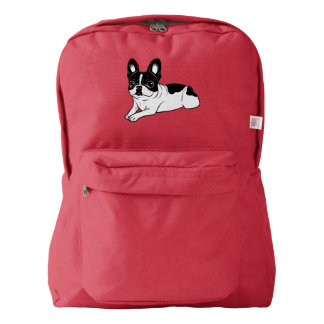 Double Hooded Pied Frenchie Backpack