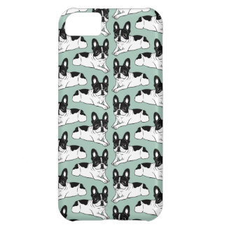 Double Hooded Pied Frenchie Cover For iPhone 5C