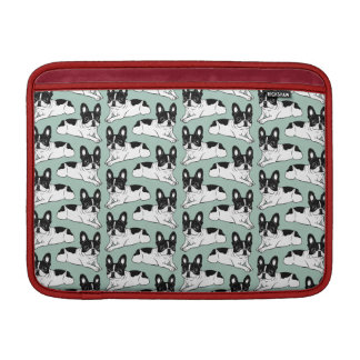 Double Hooded Pied Frenchie MacBook Sleeves