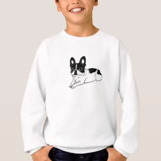 Double Hooded Pied Frenchie Sweatshirt