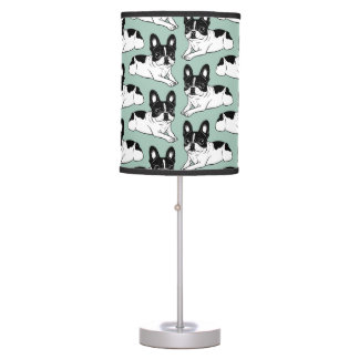 Double Hooded Pied Frenchie Table Lamp