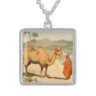 Double-Hump Camel in the Mongolian Desert Sterling Silver Necklace