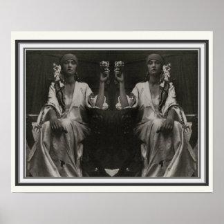 Double Image Alphonse Mucha Poster 16 x 20
